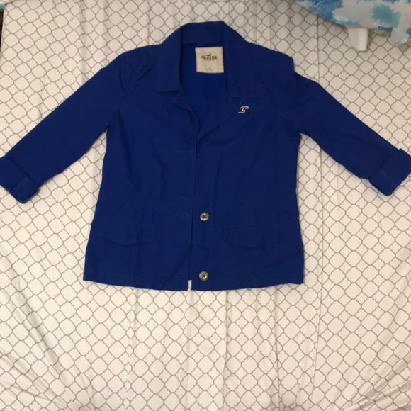 Hollister Jackets & Blazers - Hollister Dark Blue Casual Blazer / Size Small